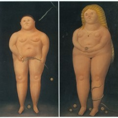 Adam And Eve by Botero