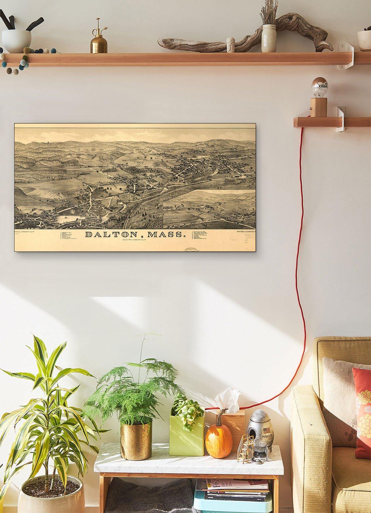 Dalton Mass LARGE Vintage Map