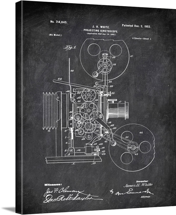 Projecting Kinetoscope J H White 1902 Technology by Patent