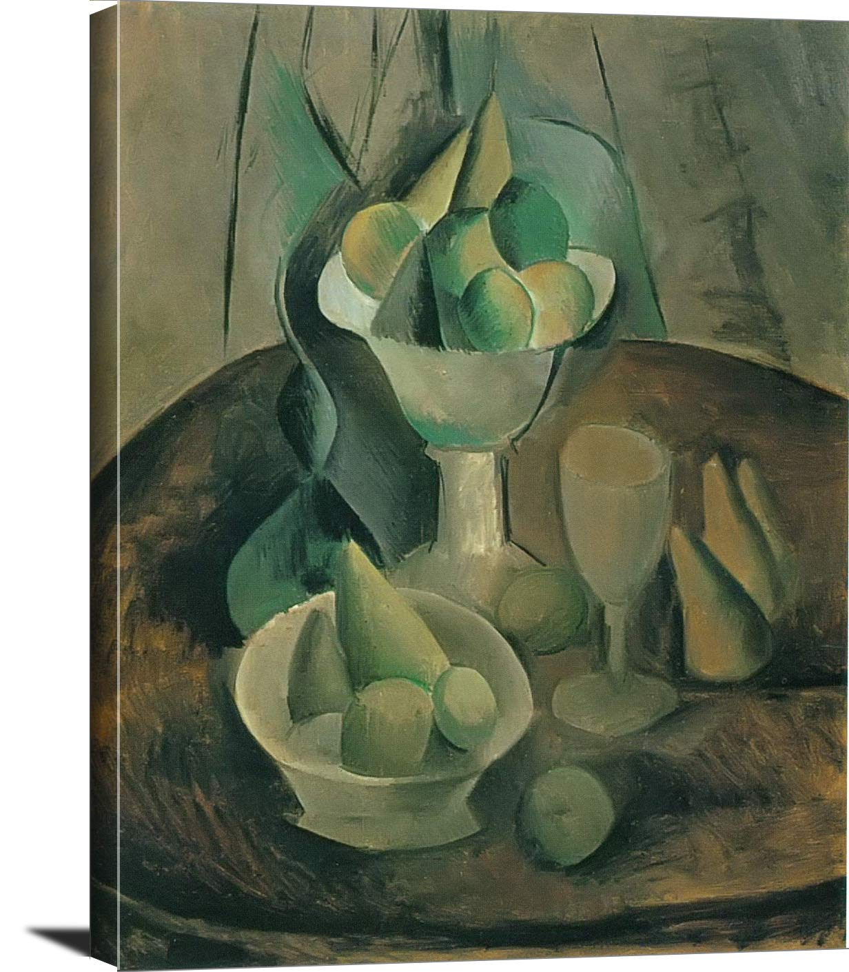 Fruit Dishes Fruit And Glass Pablo Picasso