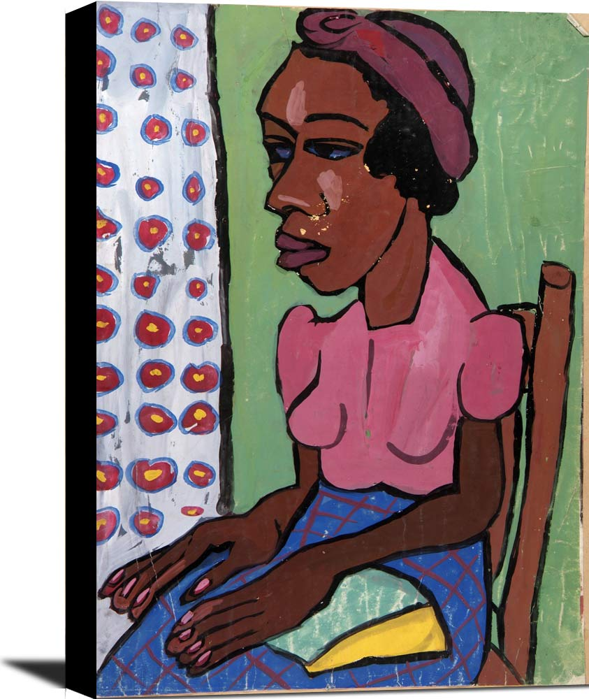Seated Woman In Pink Blouse William H Johnson