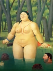 Bather In The River by Botero