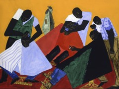 Barber Shop by Jacob Lawrence