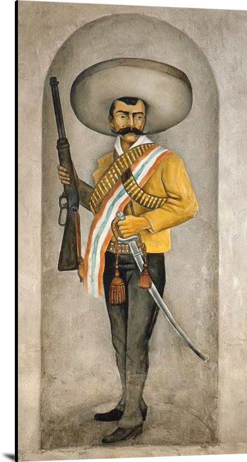 Portrait Of Emiliano Zapata by Diego Rivera