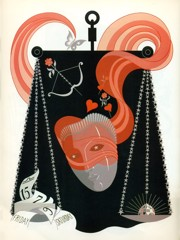 The Zodiac Libra by Erte