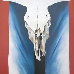 Cows Skull Red White And Blue by Georgia O Keeffe