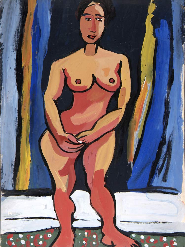 Standing Female Nude William H Johnson