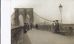 Vintage Postcard Brooklyn Bridge by Bw Photography