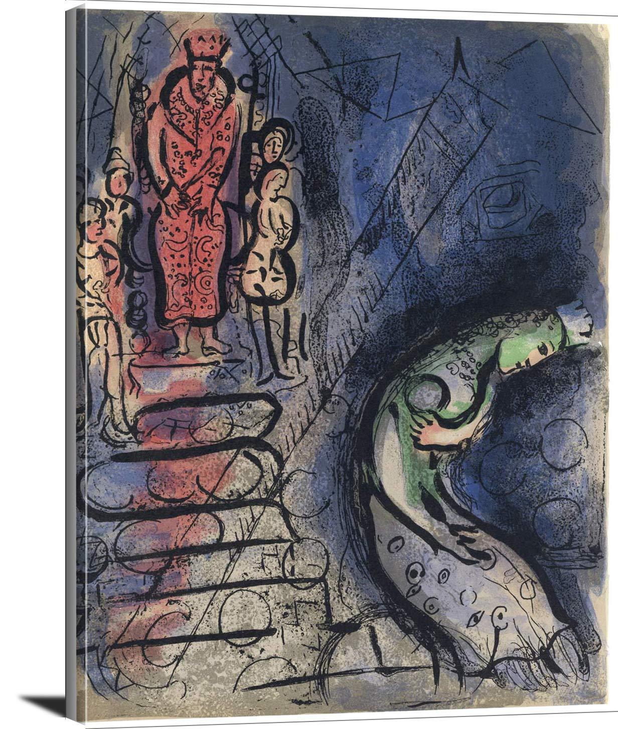 Ahasuerus Banishes Vashti Marc Chagall