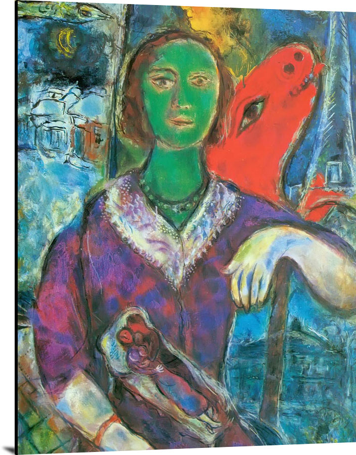 Portrait Of Vava Copy by Marc Chagall