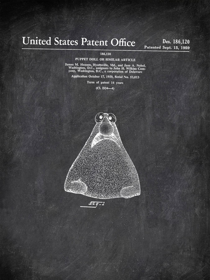 Puppet Doll Or Similar Article 1959 Games by Patent