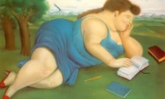 Girl Reading by Botero