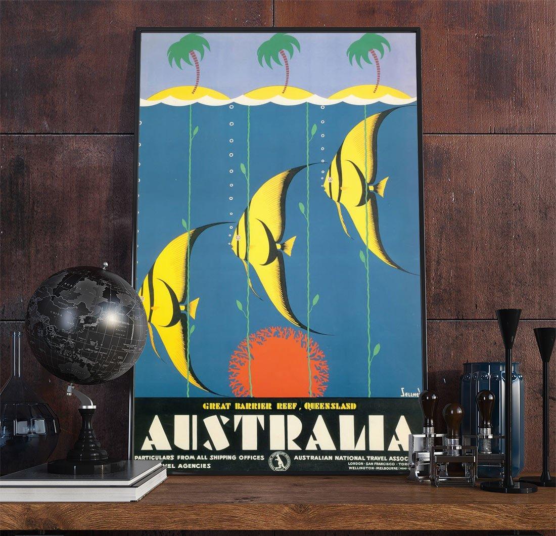 5travel Art Decoa Vintage Advertisement Poster