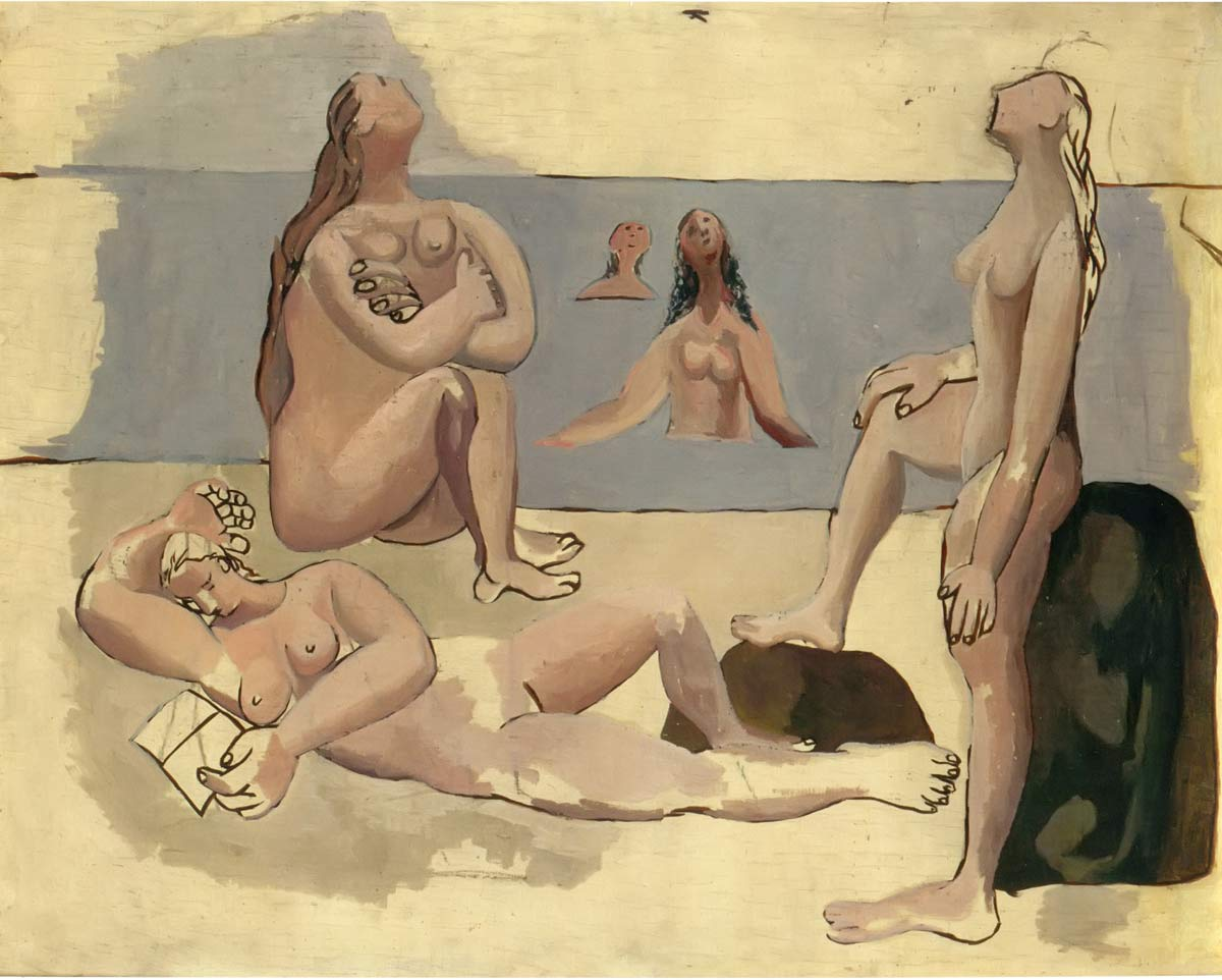 Bathers Watching An Airplane Pablo Picasso
