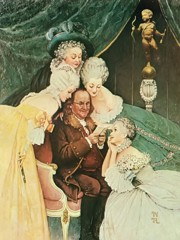 Ben Franklin's Bellers by Norman Rockwell