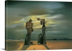 Archeological Reminiscence Of Millet's Angelus by Dali