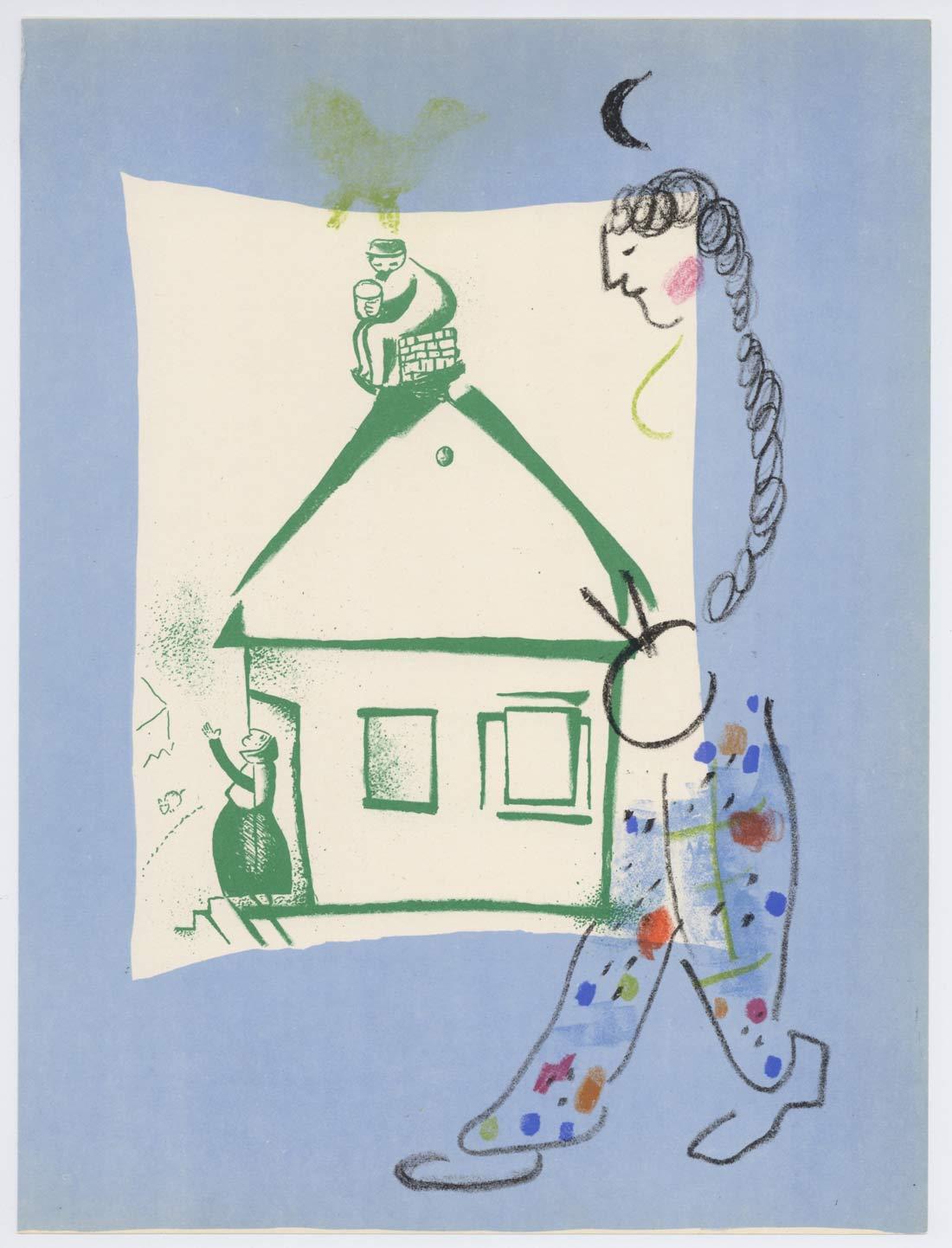 La Maison De Mon Village Marc Chagall
