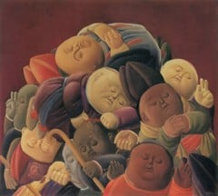 Dead Bishops by Botero