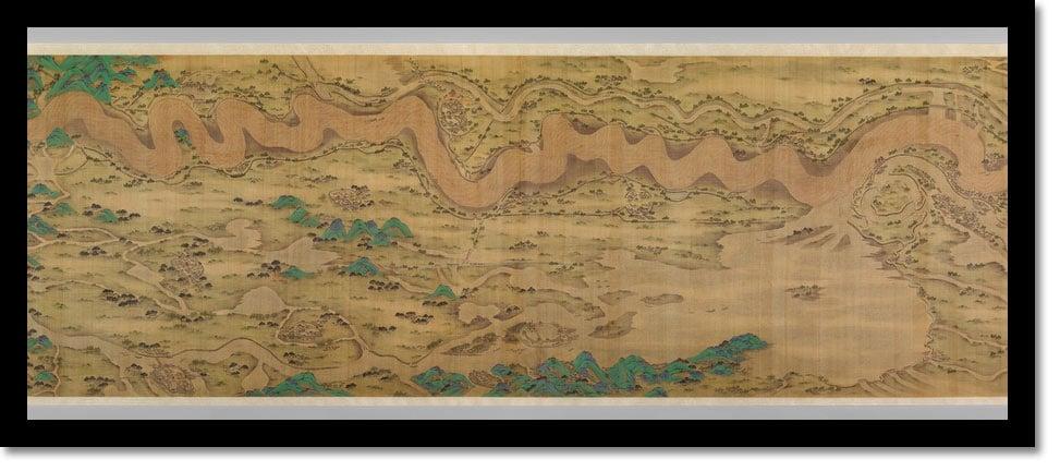 Ten Thousand Miles Along The Yellow River - Vintage Asia Maps