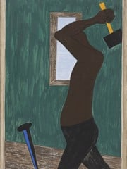 Migration Panel 4 The Negro Was The Largest Source Of Labor To Be Found After All Others Had Been Exhausted by Jacob Lawrence