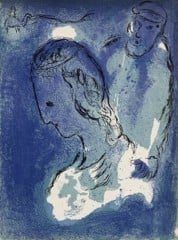 Abraham And Sarah Marc Chagall