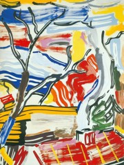 Landscape With Red Roof by Roy Lichtenstein