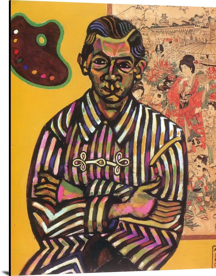 Portrait Of Enric Cristofol Ricart 1917 by Joan Miro