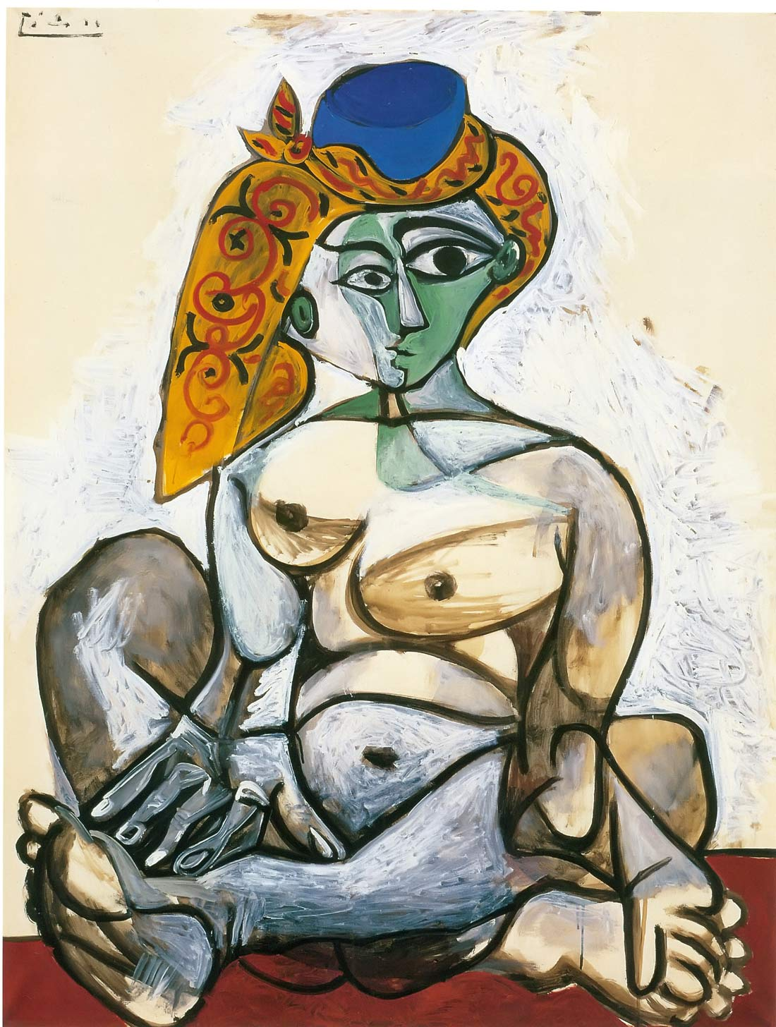 Nude Woman In A Turkish Hat Pablo Picasso