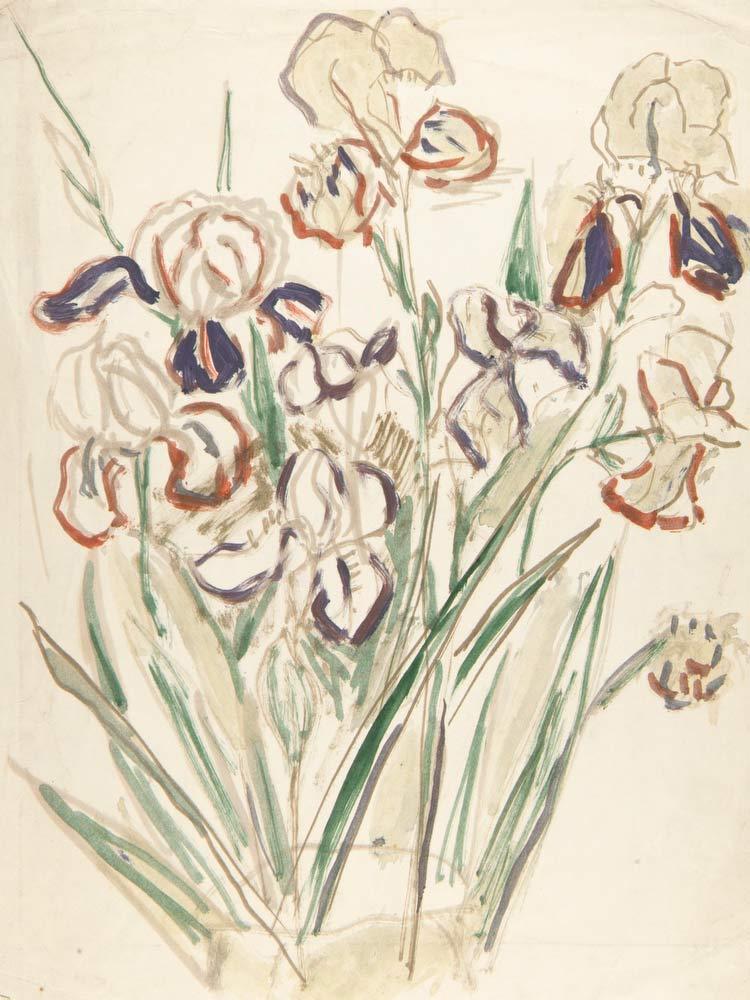 Irises William H Johnson