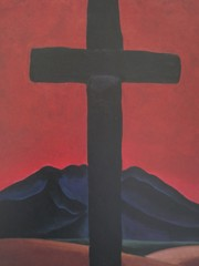 Black Cross With Red Sky by Georgia O Keeffe