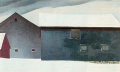 Barn With Snow 1933 by Georgia O Keeffe