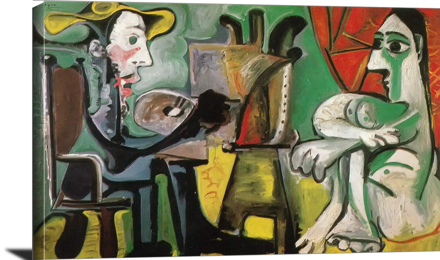 The Painter And His Model 1962 2 Pablo Picasso