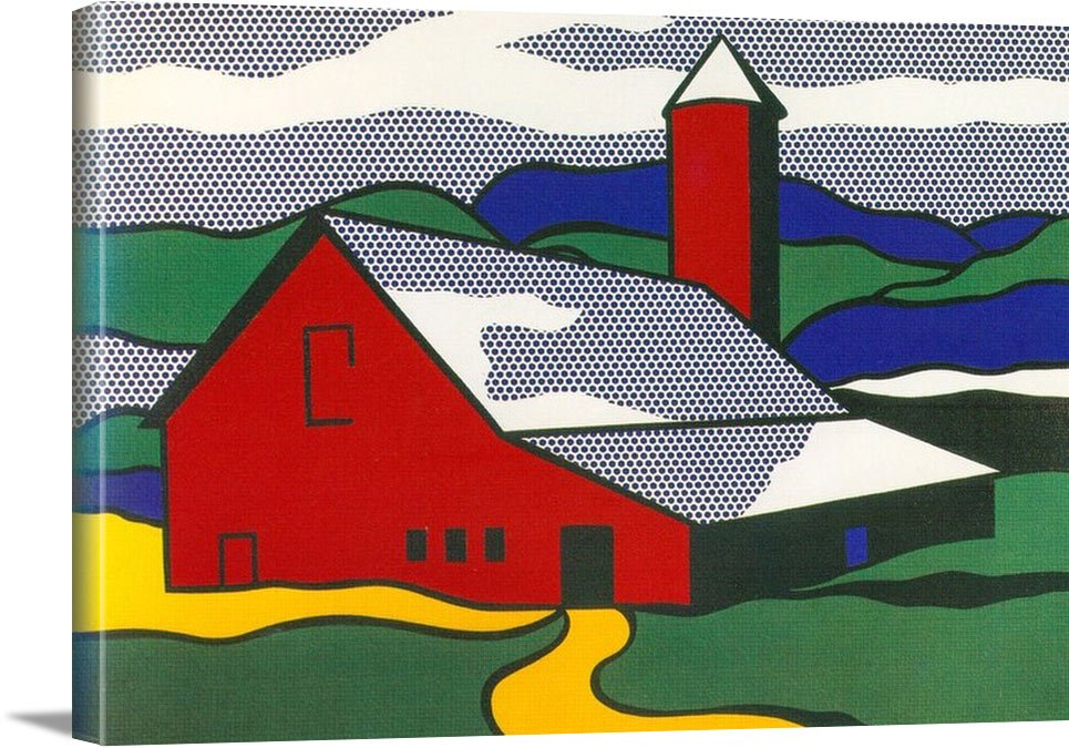 Red Barn Ii by Roy Lichtenstein