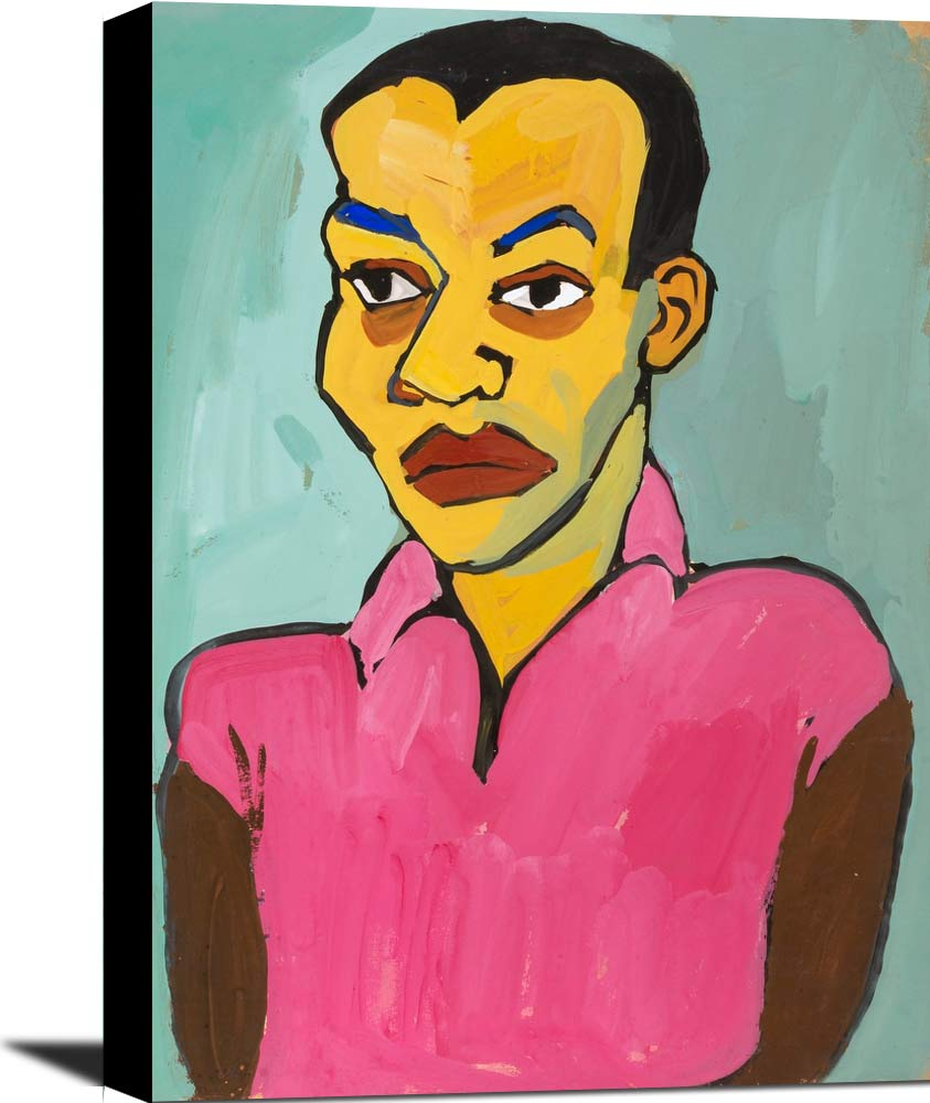 Man In A Pink Shirt William H Johnson