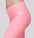 Poly spandex 3/4 leggings.