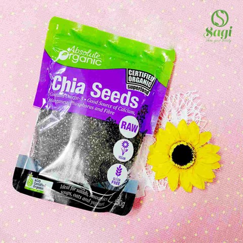 HẠT CHIA SEEDS ABSOLUTE ORGANIC BLACK 250G