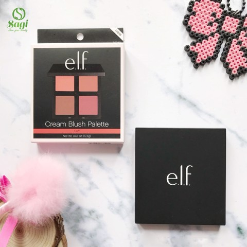 Má Hồng 4 ô ELF Cream Blush Palette Soft