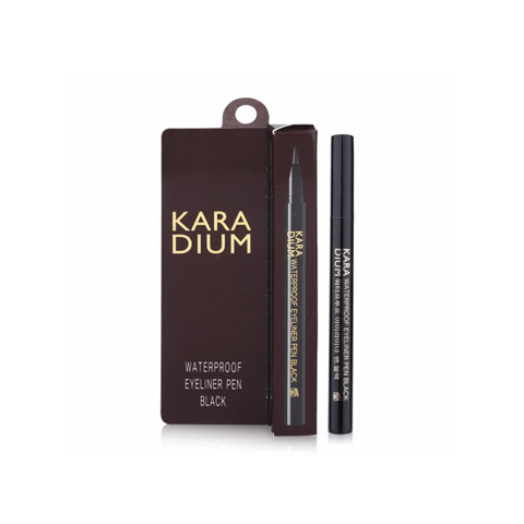 Bút Dạ Kẻ Mắt Karadium Waterproof Brush Eyeliner Pen Black