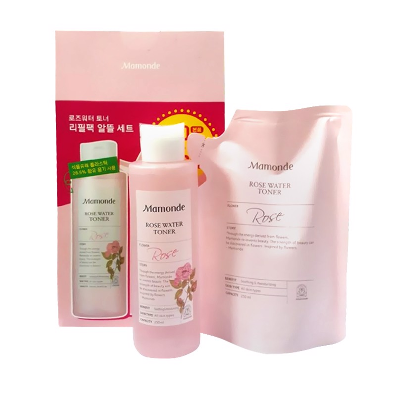 Set Toner Mamonde Rose Water Toner 250ml