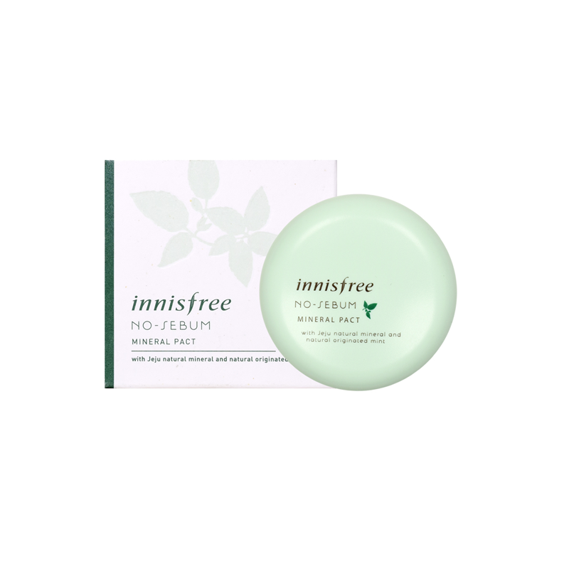 Phấn no sebum mineral pact innisfree
