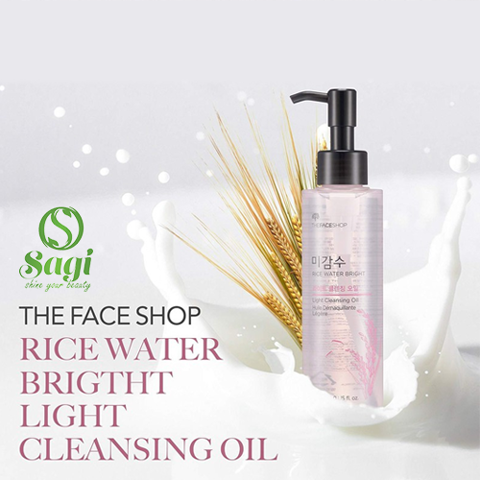 DẦU TẨY TRANG THEFACESHOP RICE WATER BRIGHT LIGHT CLEANSING OIL