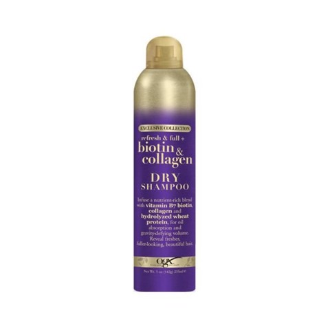 Dầu Gội Khô OGX Exclusive Collection Biotin & Collagen Dry Shampoo 235ml