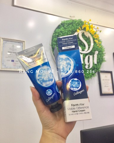 Kem Dưỡng Tay FARM STAY Visible Difference Hand Cream Collagen 100ml