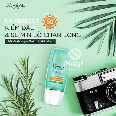 Kem chống nắng Loreal Matte and Fresh