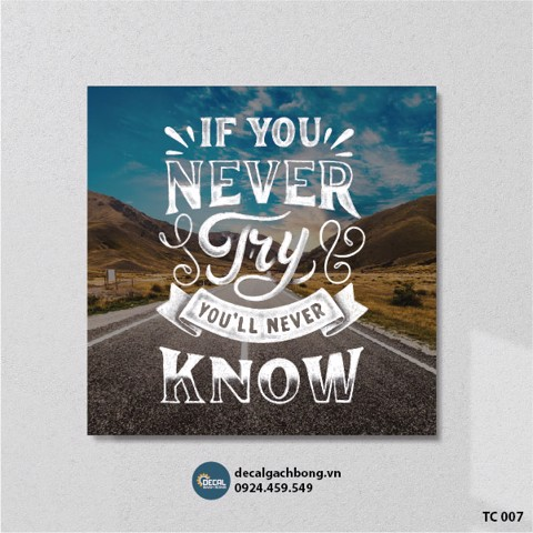 If you never try youll never know