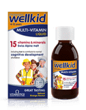 Wellkid Multi-vitamin Liquid 4-12 - vitamin tong hop cho be tu 4-12 tuoi (dang chat long)