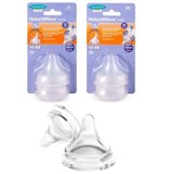 Lansinoh Natural Wave Teat Medium Flow 2Pk - núm ti size Medium