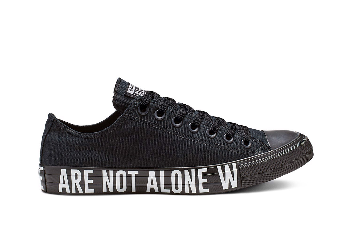 CONVERSE LOW BLACK WE ARE NOT ALONE 165382C