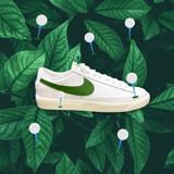 NIKE BLAZER LOW LEATHER WHITE FOREST GREEN CI6377 108