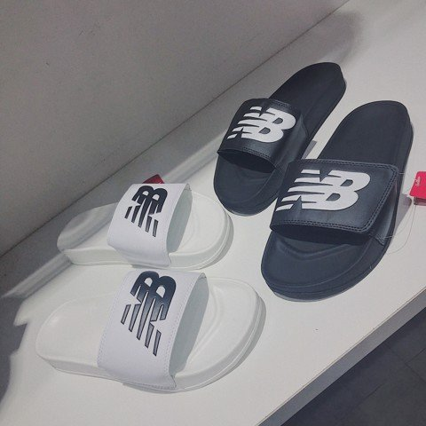 NEW BALANCE SLIPPERS | WHITE